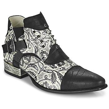 Topánky Muži Derbie New Rock M-NW135-C12 Biela / Čierna