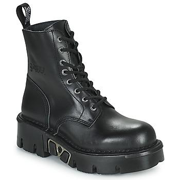 Topánky Polokozačky New Rock M-MILI084N-S3 Čierna