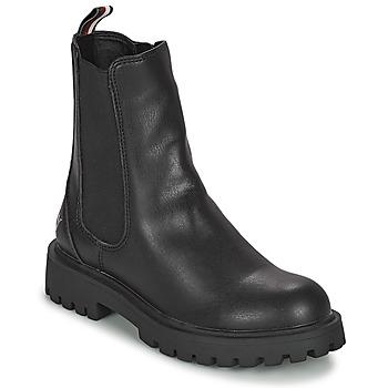 Topánky Dievčatá Polokozačky Tommy Hilfiger T3A5-31198-0289999 Čierna