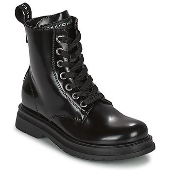 Topánky Dievčatá Polokozačky Tommy Hilfiger T4A5-32009-0776999 Námornícka modrá
