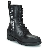 Topánky Ženy Polokozačky Love Moschino JA24184G1D Čierna