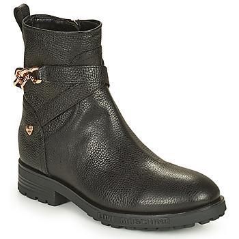 Topánky Ženy Polokozačky Love Moschino JA21084G1D Čierna