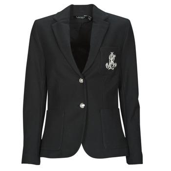 Oblečenie Ženy Saká a blejzre Lauren Ralph Lauren ANFISA-LINED-JACKET Čierna