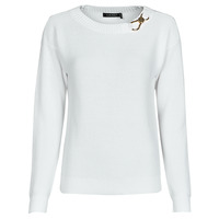 Oblečenie Ženy Svetre Lauren Ralph Lauren YAMINAH-LONG SLEEVE-SWEATER Biela