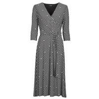 Oblečenie Ženy Dlhé šaty Lauren Ralph Lauren CARLYNA-3/4 SLEEVE-DAY DRESS Čierna