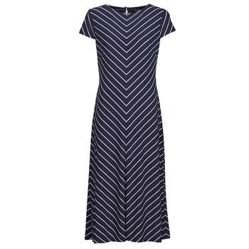 Oblečenie Ženy Dlhé šaty Lauren Ralph Lauren PIPPA-CAP SLEEVE-DAY DRESS Modrá