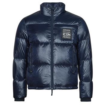 Oblečenie Muži Vyteplené bundy Armani Exchange 8NZBP3 Námornícka modrá