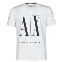 Oblečenie Muži Tričká s krátkym rukávom Armani Exchange HULO Biela
