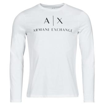 Oblečenie Muži Tričká s dlhým rukávom Armani Exchange 8NZTCH Biela