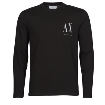 Oblečenie Muži Tričká s dlhým rukávom Armani Exchange 8NZTPL Čierna