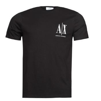 Oblečenie Muži Tričká s krátkym rukávom Armani Exchange 8NZTPH Čierna