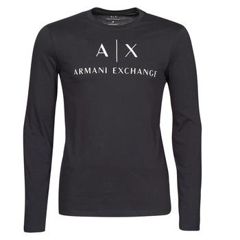 Oblečenie Muži Tričká s dlhým rukávom Armani Exchange 8NZTCH Námornícka modrá