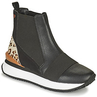 Topánky Ženy Členkové tenisky Gioseppo LUNNER Čierna / Leopard