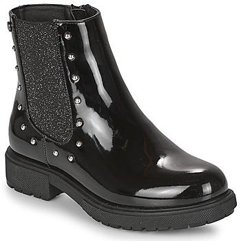 Topánky Dievčatá Polokozačky Gioseppo TELAGH Čierna