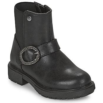 Topánky Dievčatá Polokozačky Gioseppo LONTZEN Čierna