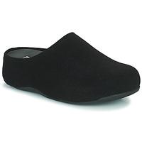 Topánky Ženy Nazuvky FitFlop SHUV FELT Čierna