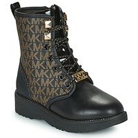 Topánky Dievčatá Polokozačky MICHAEL Michael Kors HASKELL Čierna / Zlatá