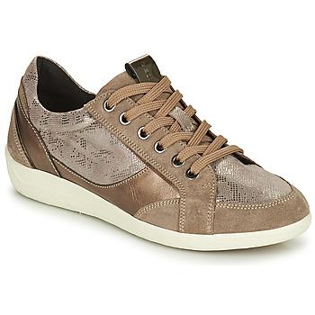 Topánky Ženy Nízke tenisky Geox MYRIA Zlatá