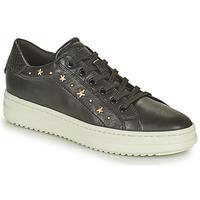 Topánky Ženy Nízke tenisky Geox PONTOISE Čierna / Zlatá