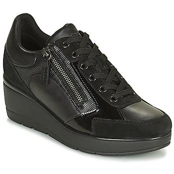 Topánky Ženy Nízke tenisky Geox ILDE Čierna