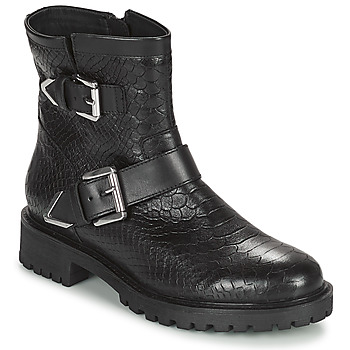 Topánky Ženy Čižmičky Geox HOARA Čierna