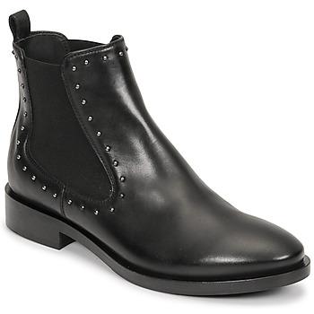 Topánky Ženy Čižmičky Geox BROGUE Čierna