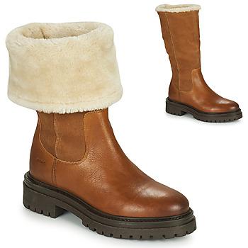 Topánky Ženy Polokozačky Geox IRIDEA Hnedá