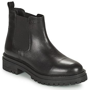 Topánky Ženy Polokozačky Geox IRIDEA Čierna