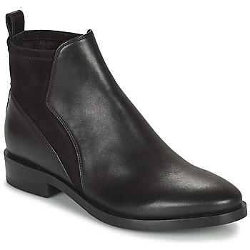 Topánky Ženy Polokozačky Geox DONNA BROGUE Čierna
