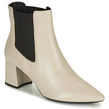 Topánky Ženy Čižmičky Geox BIGLIANA Béžová