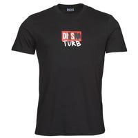 Oblečenie Muži Tričká s krátkym rukávom Diesel T-DIEGOS-B10 Čierna
