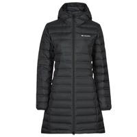 Oblečenie Ženy Vyteplené bundy Columbia LAKE DOWN LONG HOODED JACKET Čierna