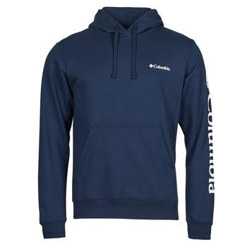 Oblečenie Muži Mikiny Columbia VIEWMONT II SLEEVE GRAPHIC HOODIE Námornícka modrá / Biela