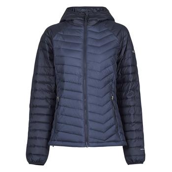 Oblečenie Ženy Vyteplené bundy Columbia POWDER LITE HOODED JACKET Námornícka modrá / Čierna