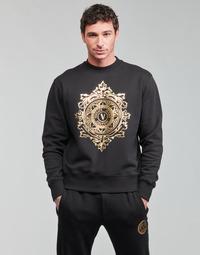 Oblečenie Muži Mikiny Versace Jeans Couture VEMBLEM LEAF Čierna / Zlatá