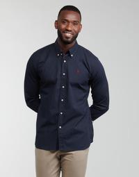 Oblečenie Muži Košele s dlhým rukávom U.S Polo Assn. DIRK 51371 EH03 Námornícka modrá