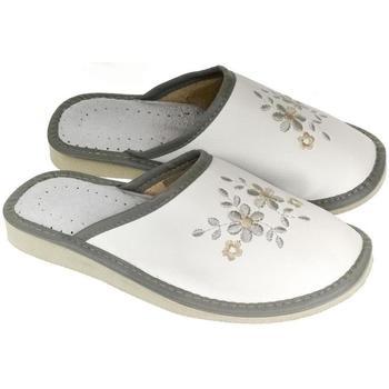 Topánky Ženy Papuče John-C Dámske bielo-sivé papuče MALVINA sivá