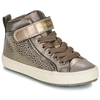 Topánky Dievčatá Členkové tenisky Geox KALISPERA Zlatá