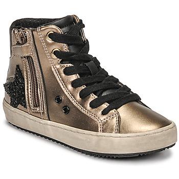 Topánky Dievčatá Členkové tenisky Geox KALISPERA Zlatá / Čierna