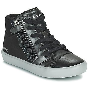 Topánky Dievčatá Členkové tenisky Geox GISLI Čierna / Strieborná