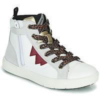 Topánky Dievčatá Členkové tenisky Geox SILENEX Biela