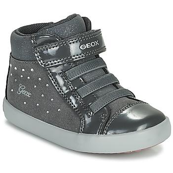 Topánky Dievčatá Členkové tenisky Geox GISLI Šedá