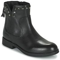 Topánky Dievčatá Polokozačky Geox AGATO Čierna