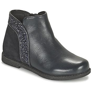 Topánky Dievčatá Polokozačky Geox SHAWNTEL Námornícka modrá