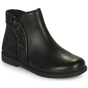 Topánky Dievčatá Polokozačky Geox SHAWNTEL Čierna