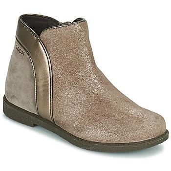 Topánky Dievčatá Polokozačky Geox SHAWNTEL Zlatá