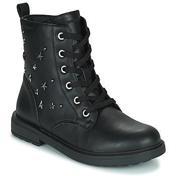Topánky Dievčatá Polokozačky Geox ECLAIR Čierna