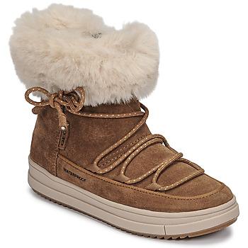 Topánky Dievčatá Polokozačky Geox REBECCA WPF Ťavia hnedá