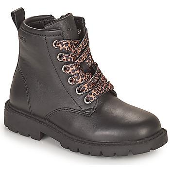 Topánky Dievčatá Polokozačky Geox SHAYLAX Čierna