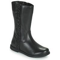 Topánky Dievčatá Čižmy do mesta Geox SHAWNTEL Čierna